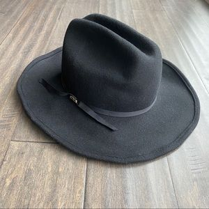 SCALA Black Wool Shapeable Cattleman Cowboy Hat